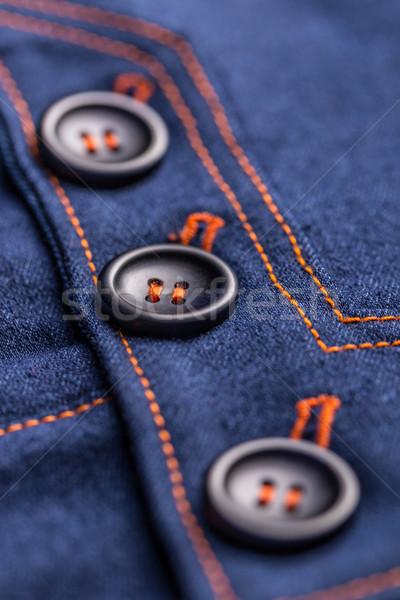 Knoppen denim rok achtergrond stedelijke Stockfoto © grafvision