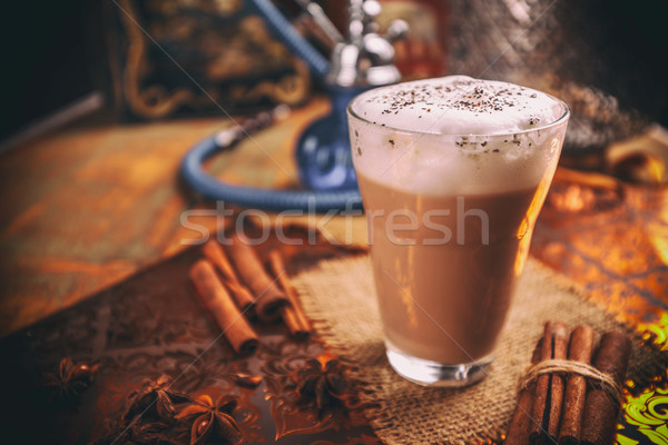 Chai latte spiced tea Stock photo © grafvision