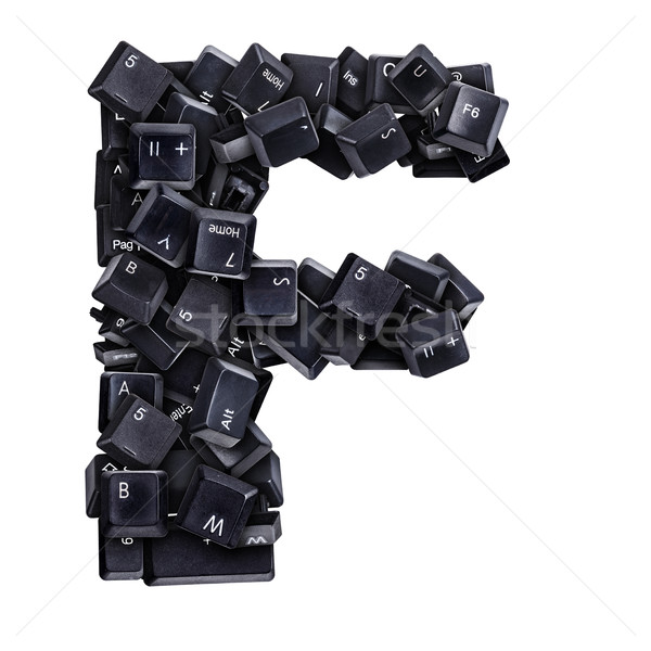 Letter F made of keyboard buttons Stock photo © grafvision