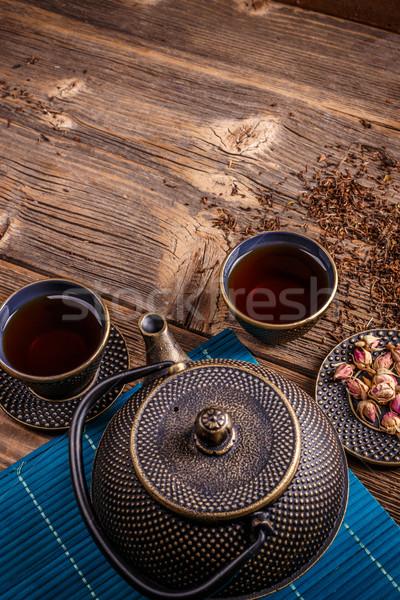 Hierro tetera té tradicional Foto stock © grafvision
