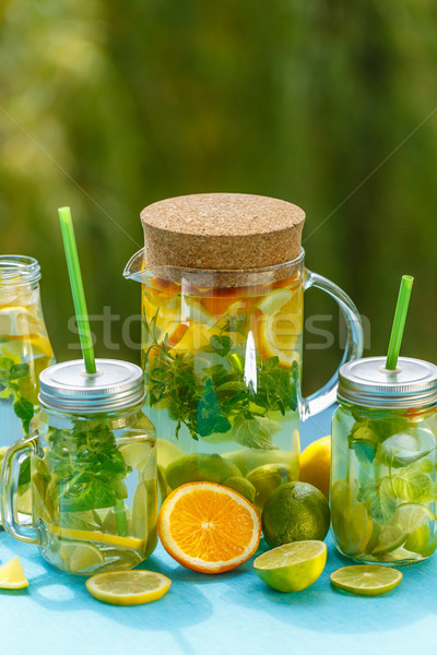 Infused detox water Stock photo © grafvision