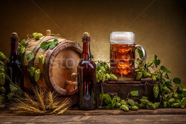 Vintage beer barrel Stock photo © grafvision