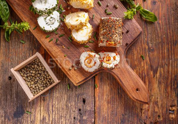 先頭 表示 辛い 木製 まな板 緑 ストックフォト © grafvision