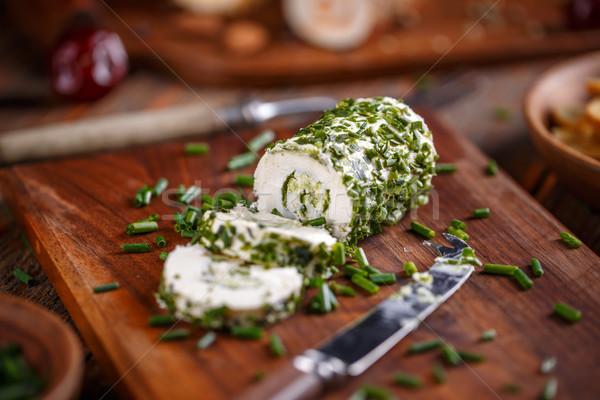 Suave cebollino tabla de cortar alimentos Foto stock © grafvision