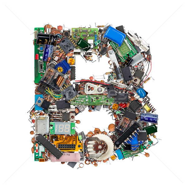 Letter B made of electronic components Stock photo © grafvision