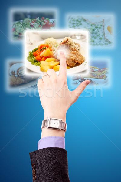 Kiválaszt képek kéz streamelés számítógép internet Stock fotó © grafvision