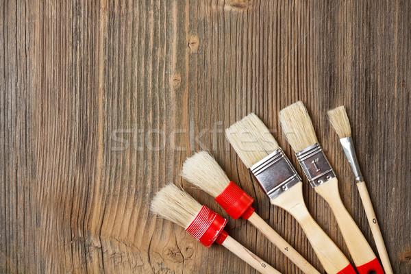 Festék klasszikus fából készült fa oktatás asztal Stock fotó © grafvision