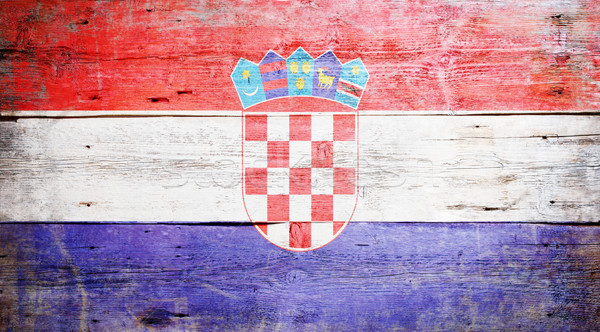 Flag of Croatia Stock photo © grafvision