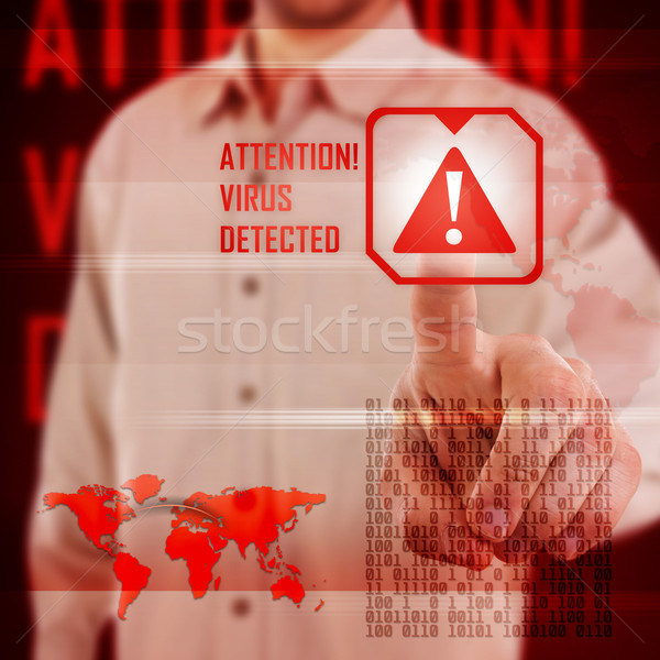 Vírus alertar digital interface internet fundo Foto stock © grafvision