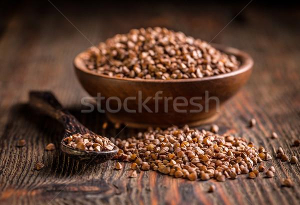 Brown buckwheat groats  Stock photo © grafvision