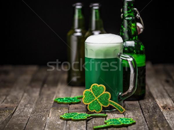 День Святого Патрика праздник празднования удачливый клевера зеленый Сток-фото © grafvision