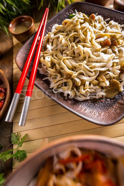 Spicy thai noodles Stock photo © grafvision