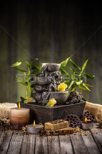 Stock photo: Decorative indoor fountain