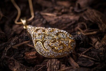 ékszerek kicsi divat háttér kő arany Stock fotó © grafvision
