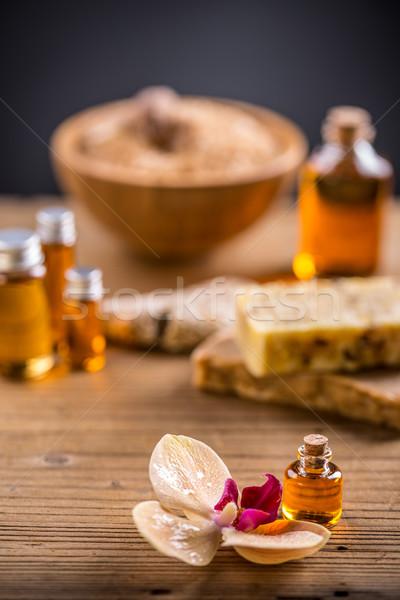 Illóolaj aromaterápia kezelés pihen orchidea természetes Stock fotó © grafvision