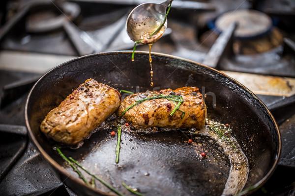 シェフ 食事 商業 レストラン キッチン ディナー ストックフォト © grafvision