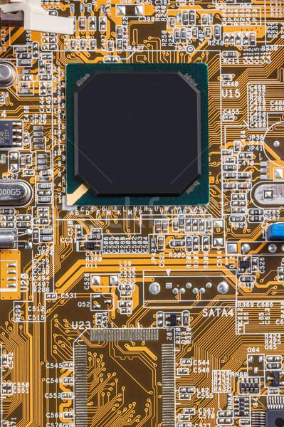 Elektronikus nyáklap közelkép processzor háttér tudomány Stock fotó © grafvision