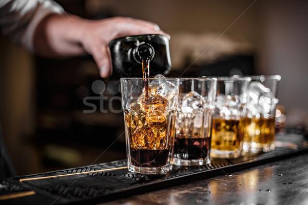 Barmen cam adam restoran Stok fotoğraf © grafvision