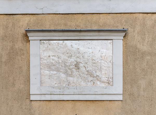 Square empty signboard Stock photo © grafvision