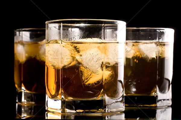 Boire sweet glace verre fond vague Photo stock © grafvision