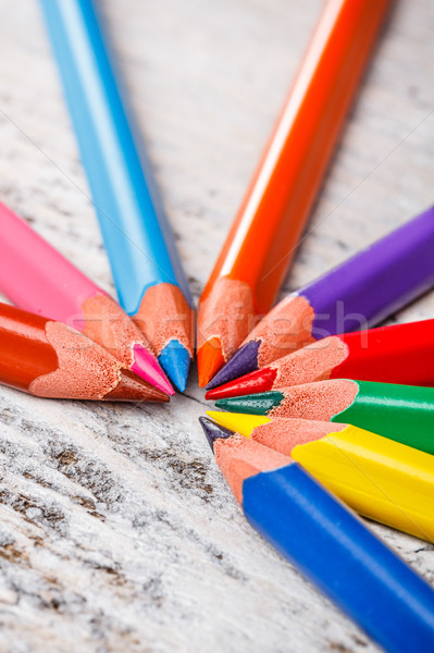 Coloured pencils Stock photo © grafvision