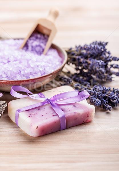 Trattamento termale lavanda sapone sale fiore spa Foto d'archivio © grafvision