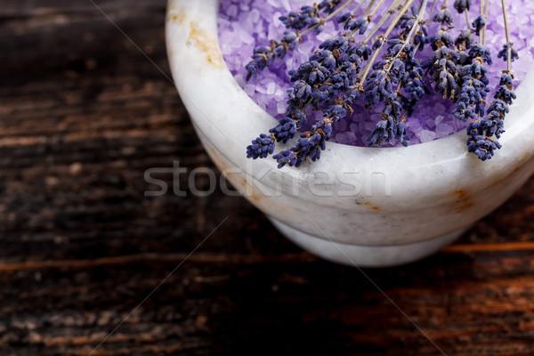 Zdjęcia stock: Lawendy · soli · zdrowia · muzyka · niebieski · relaks