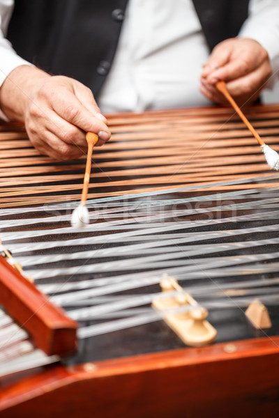 Dulcimer folk musical instrument Stock photo © grafvision