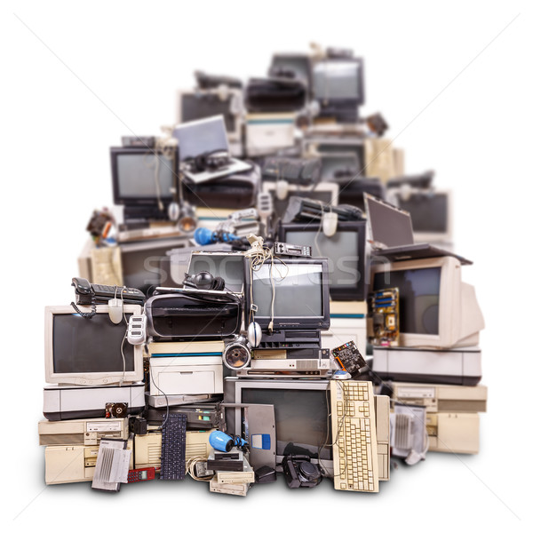 Electronic waste ready for recycling Stock photo © grafvision