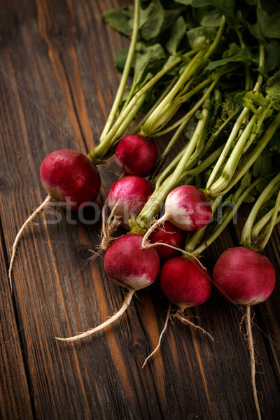 Freshly harvested red radishes  Stock photo © grafvision