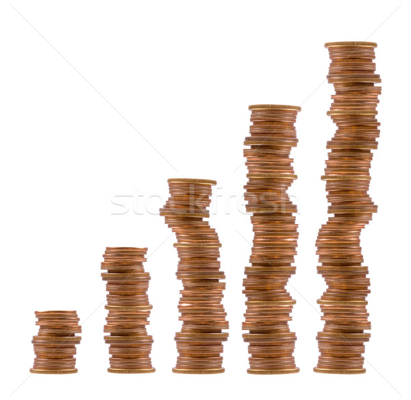 Stock photo: stacks of coins