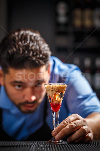Sangrento cérebro tiro coquetel garçom Foto stock © grafvision