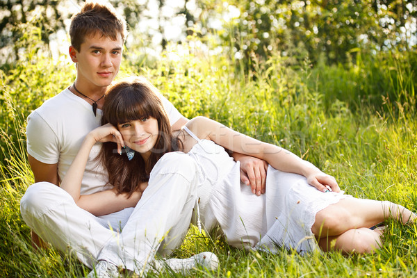 Romantic young couple Stock photo © grafvision