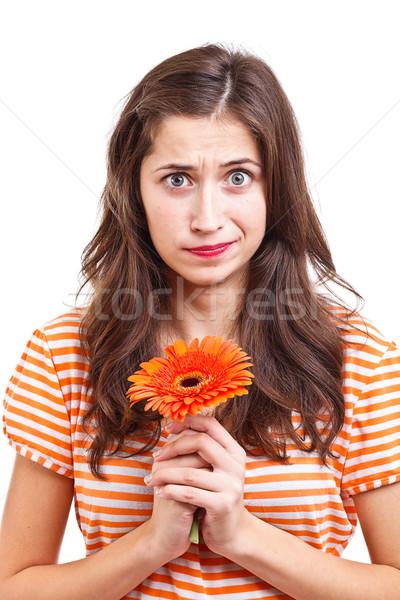 若い女性 肖像 花 女性 少女 ストックフォト © grafvision
