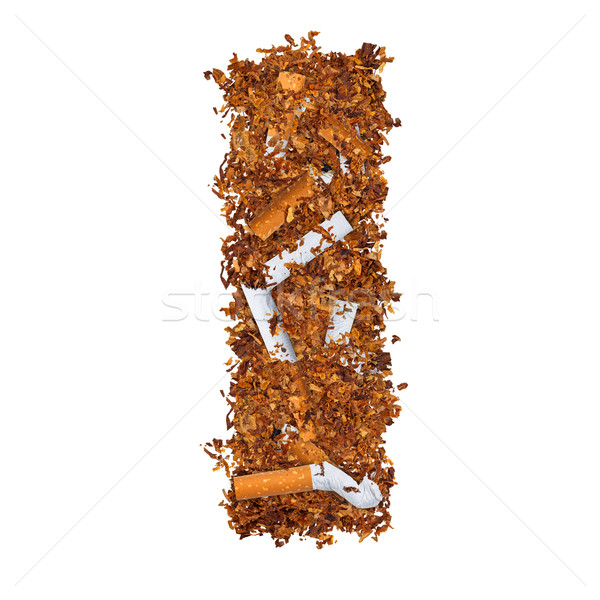 Letter i sigaretten gedroogd roken tabak brief Stockfoto © grafvision