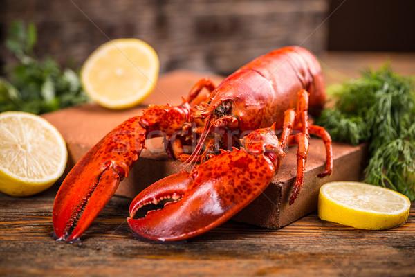 Lagosta cozinhado servido inteiro jantar Foto stock © grafvision