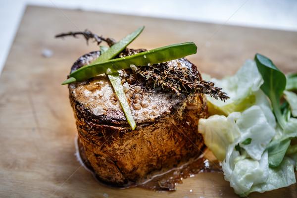 Medium roast rib-eye steak  Stock photo © grafvision