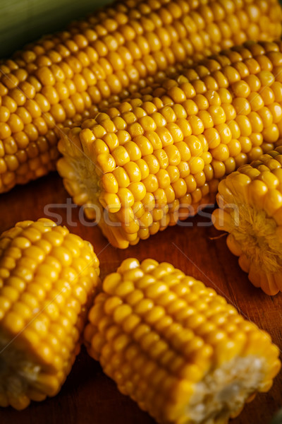 Cobs of sweet corn Stock photo © grafvision