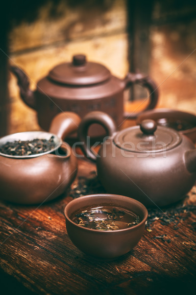 Chino té ceremonia cerámica olla Foto stock © grafvision