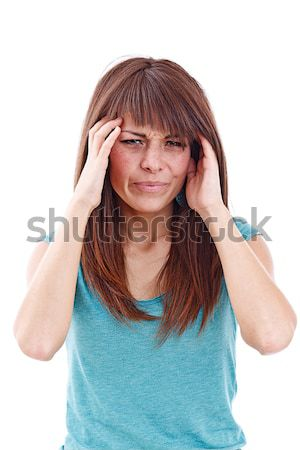 Young woman with severe headache Stock photo © grafvision