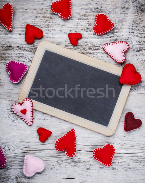 Handmade felt hearts  Stock photo © grafvision