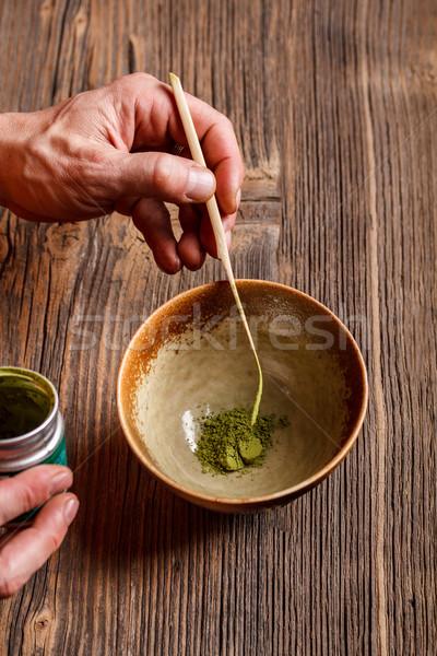 Японский чай церемония керамической чаши стороны Сток-фото © grafvision