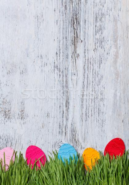 Felt eggs Stock photo © grafvision