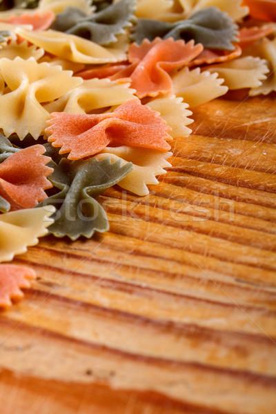 Dry farfalle pasta Stock photo © grafvision