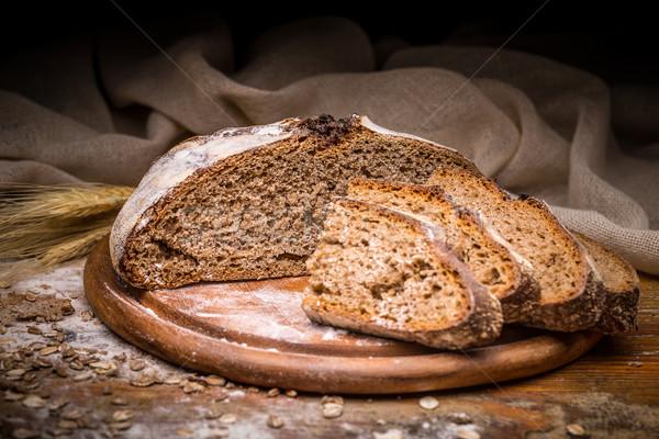 Sliced artisan bread Stock photo © grafvision