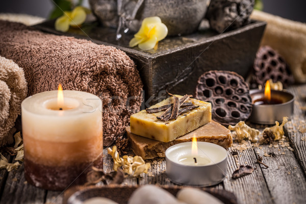 Stock photo: Composition with candles