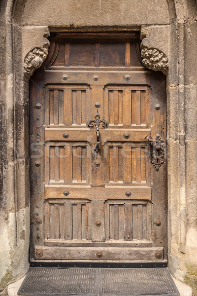 Vintage door Stock photo © grafvision