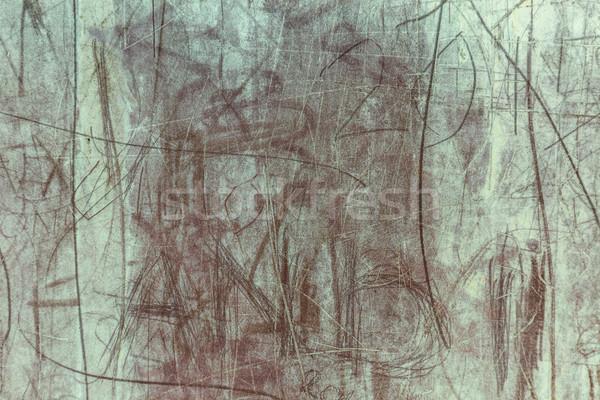 Streszczenie metal ściany farby tle podpisania Zdjęcia stock © grafvision
