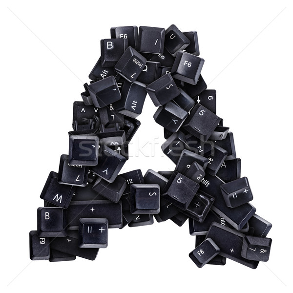Letter A made of keyboard buttons Stock photo © grafvision