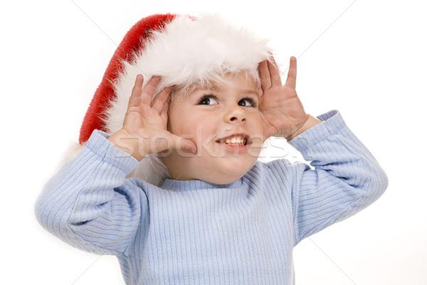 ストックフォト: 赤ちゃん · クリスマス · 幸せ · 孤立した · 白
